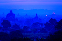 Bagan Pre-Dawn from Shwesandaw Temple