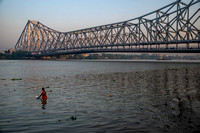 Bathing in the Hooghly River