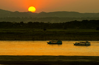 Sunset on the Irrawaddy River