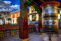 Leh:  Prayer Wheel and Namgyal Tsemo