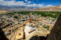 Leh City from the Old Palace