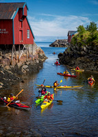 Kayakers at Å