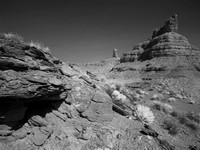 Valley of the Gods in B/W