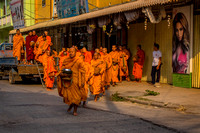 A Covey of Monks Coming for Breakfast